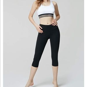 Tesla crop yoga pants high waist leggings in black